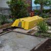 実家の庭の大改造⑮ 新たな基礎がようやく完成