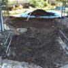 実家の庭の大改造㉘ 敷きレンガの到着&整地作業1日目