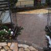 実家の庭の大改造㊱ 仕上げの珪砂で400個のレンガ敷きの完成♪